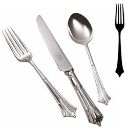Albany Table fork, silver plate