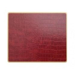 Texture Range - Croc Set of 4 placemats, 30 x 22cm, burgundy