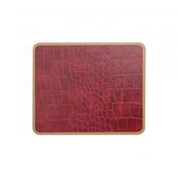 Texture Range - Croc Set of 6 coasters, 11 x 9cm, burgundy