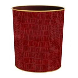 Texture Range - Croc Wastepaper bin, H28cm, burgundy