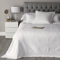 Vintage Etienne - Cotton King bedspread, 260 x 260cm, white