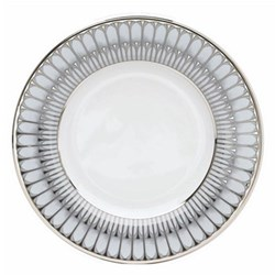 Arcades Dessert plate, 22cm, grey and platinum
