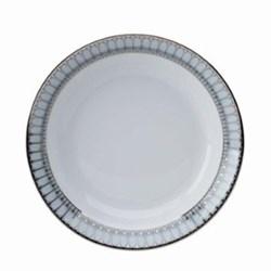 Arcades Rimmed soup plate, 22cm, grey and platinum