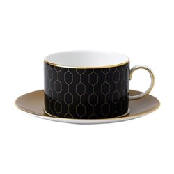 Arris Teacup and saucer - Honeycomb
