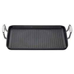 Toughened Non-Stick Ribbed rectangular grill pan, 35cm