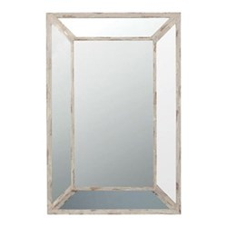 Marco Mitred wall mirror, H90 x W60cm, wood frame