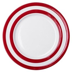 Set of 4 dinner plates, 28cm, red