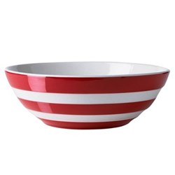 Set of 4 cereal bowls, 17cm, red