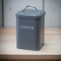 Coffee canister, H20 x W12 x D12cm, charcoal