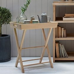 Hambledon Butlers tray and stand, H70 x W58 x D45cm, oak