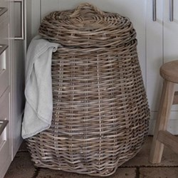 Bembridge Laundry basket, H68 x W40 x D40cm, wicker