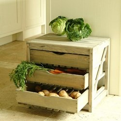 Vegetable store, 3 drawers, H46 x W52 x D40cm, spruce wood