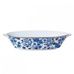 Hibiscus Oval serving bowl, 1.3 litre, floral