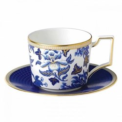 Hibiscus Teacup and saucer, floral