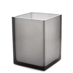 Hollywood Trash bin, W18 x D18 x 24cm, smoke lucite