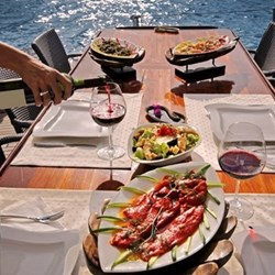 Sunset dinner cruise for two