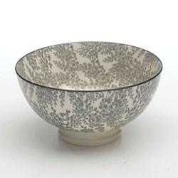 Tue Set of 6 medium bowls, 15.2cm, grey