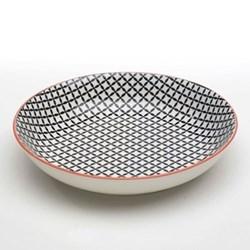 Tue Set of 6 deep plates, 20cm, black