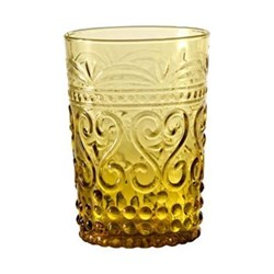 Provenzale Set of 6 straight sided tumblers, 27cl, amber