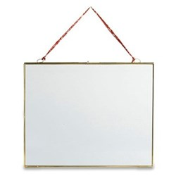 Kiko Hanging frame - landscape, 29 x 36cm, antique brass