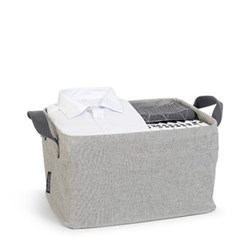 Laundry basket, foldable, grey