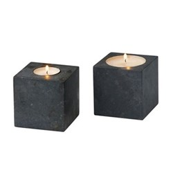 Hammam Tea light holder, dark grey