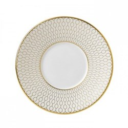 Arris Espresso saucer, white with gold band