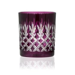 Pineapple Pair of double old fashioned tumblers, 28cl, aubergine