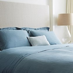 King size flat sheet, 270 x 270cm, Parisian blue