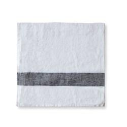 Arles Napkin, 47 x 47cm, charcoal stripe