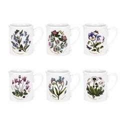 Botanic Garden Set of 6 breakfast mugs, 26cl
