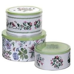 Botanic Garden Set of 3 cake tins, D26.5 x H14, 21.8 x 13, 20 x 10cm