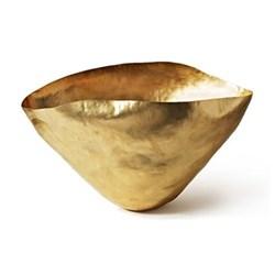 Bash Small hand beaten bowl, W31 x H16cm, brass