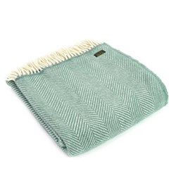 Fishbone Throw, 150 x 183cm, sea green