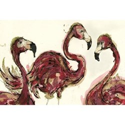A Flamboyance Of Flamingoes Mounted print, 50 x 70cm