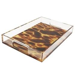 Acrylic - Tortoise Shell Tray, 20 x 30cm