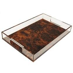 Acrylic - Burr Walnut Tray, 20 x 30cm