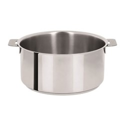 Mutine Stewpan without handles, D24cm - 5.1 litre, stainless steel