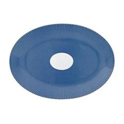 Tresor Bleu Medium oval dish, 36 x 26cm