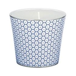 Tresor Bleu Candle pot, 8.5cm