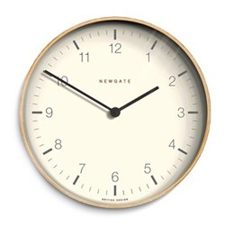 Mr Clarke Wall clock, Dia28cm, pale wood finish