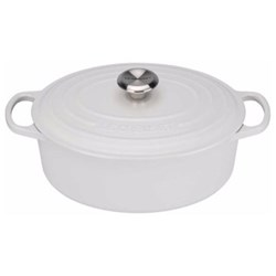 Signature Cast Iron Oval casserole, 27cm - 4 litre, cotton