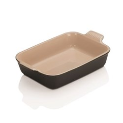 Stoneware Rectangular dish, 26 x 19cm - 2.3 litre, satin black