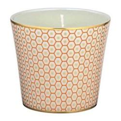 Tresor Bleu Candle pot, 8.5cm, orange
