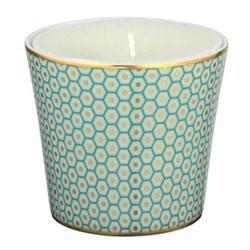Tresor Bleu Candle pot, 8.5cm, turquoise