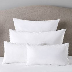 Avignon - 200 Thread Count Cotton Housewife pillowcase, 50 x 75cm, white