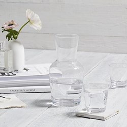 Carafe and tumblers, glass