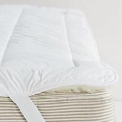 Luxury Reversable Mattress topper king, L200 x W150cm, white