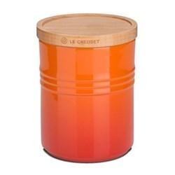 Stoneware Medium storage jar, 10 x 12cm - 540ml, volcanic