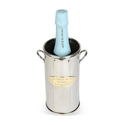 Heritage Wine bottle holder tall, 21 x 11cm, stainless steel and brass